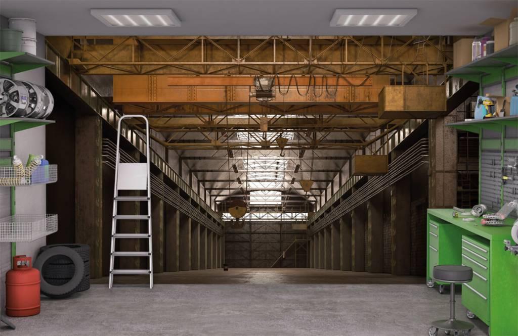 Gebäude - Industrielle verlassene Halle - Lagerhaus 9