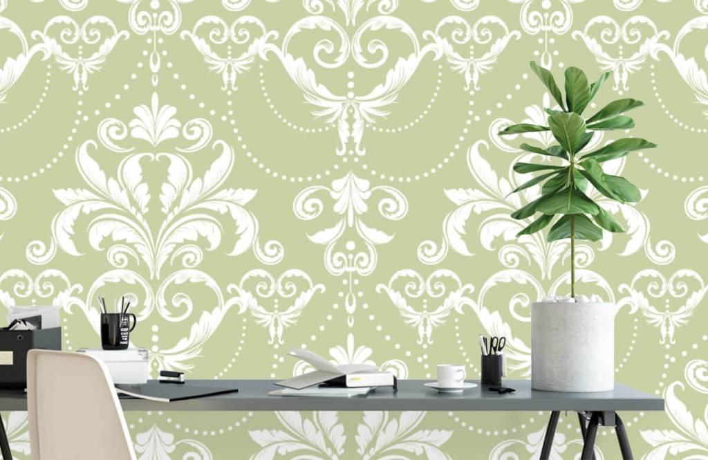 Barock Tapete - Klassiches Muster - Schlafzimmer 1
