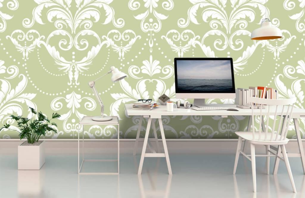 Barock Tapete - Klassiches Muster - Schlafzimmer 2