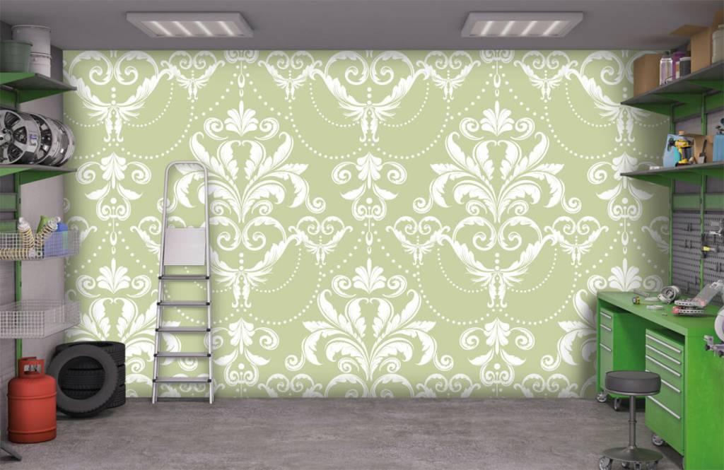 Barock Tapete - Klassiches Muster - Schlafzimmer 9