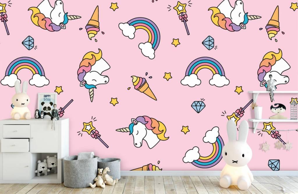 Pferde - Einhörner und Regenbogen - Kinderzimmer 1