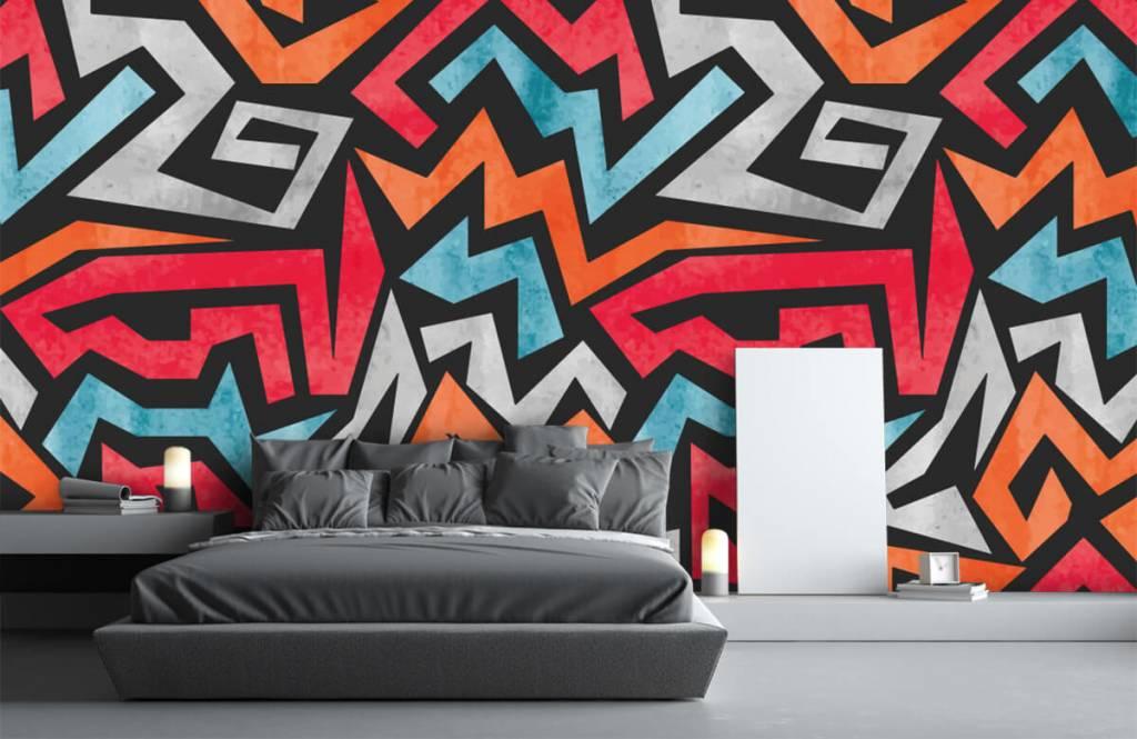 Graffiti - Bunte grafik - Jugendzimmer 3