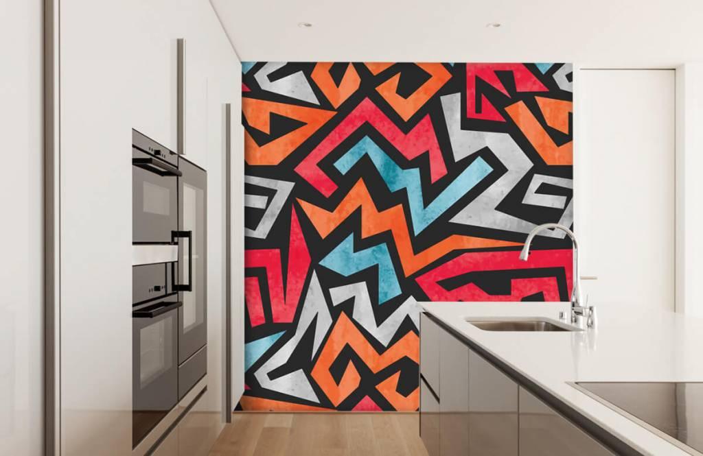 Graffiti - Bunte grafik - Jugendzimmer 4