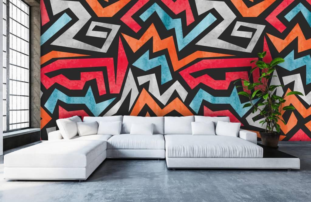 Graffiti - Bunte grafik - Jugendzimmer 5