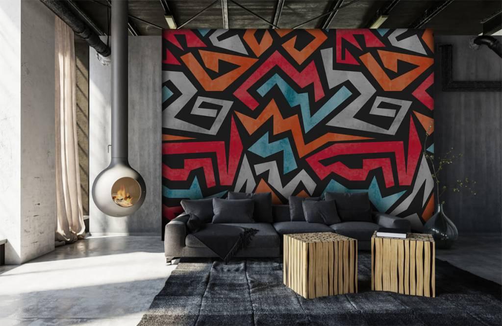 Graffiti - Bunte grafik - Jugendzimmer 6