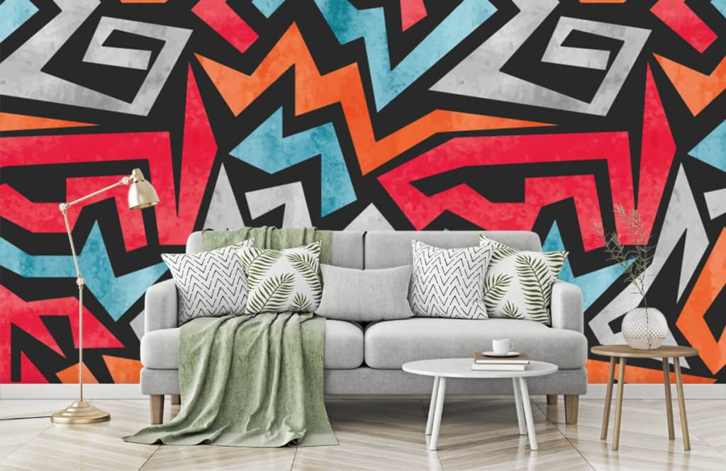 Graffiti - Bunte grafik - Jugendzimmer 7