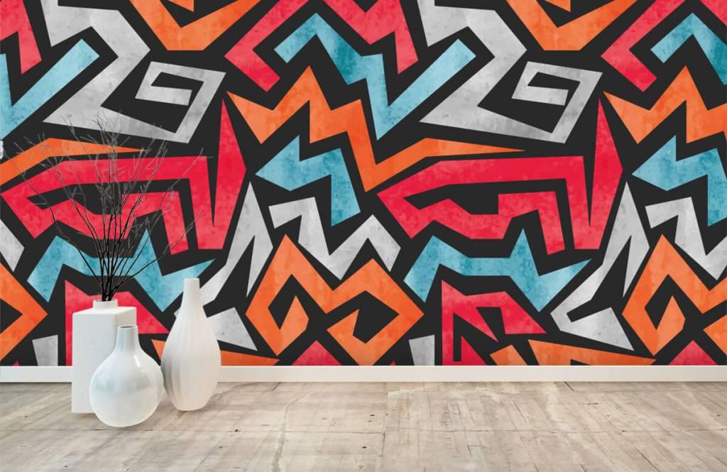 Graffiti - Bunte grafik - Jugendzimmer 8