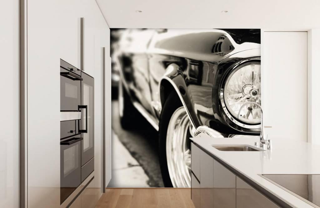 Verkehrsmittel tapete - Oldtimer in einer Reihe - Schlafzimmer 1