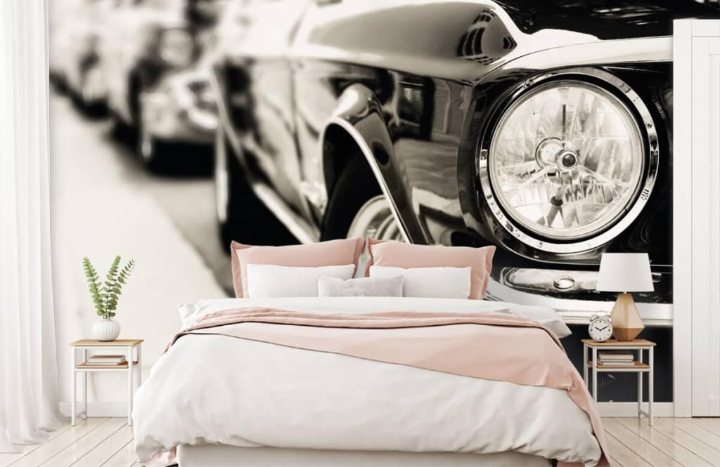 Verkehrsmittel tapete - Oldtimer in einer Reihe - Schlafzimmer 2