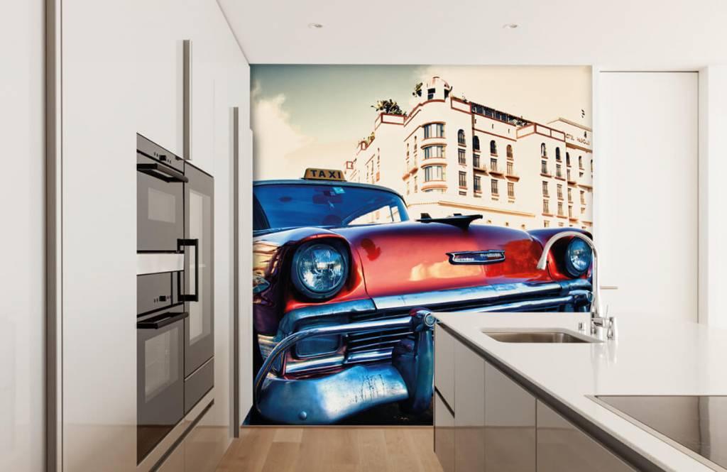 Verkehrsmittel Tapete - Roter Oldtimer - Schlafzimmer 4