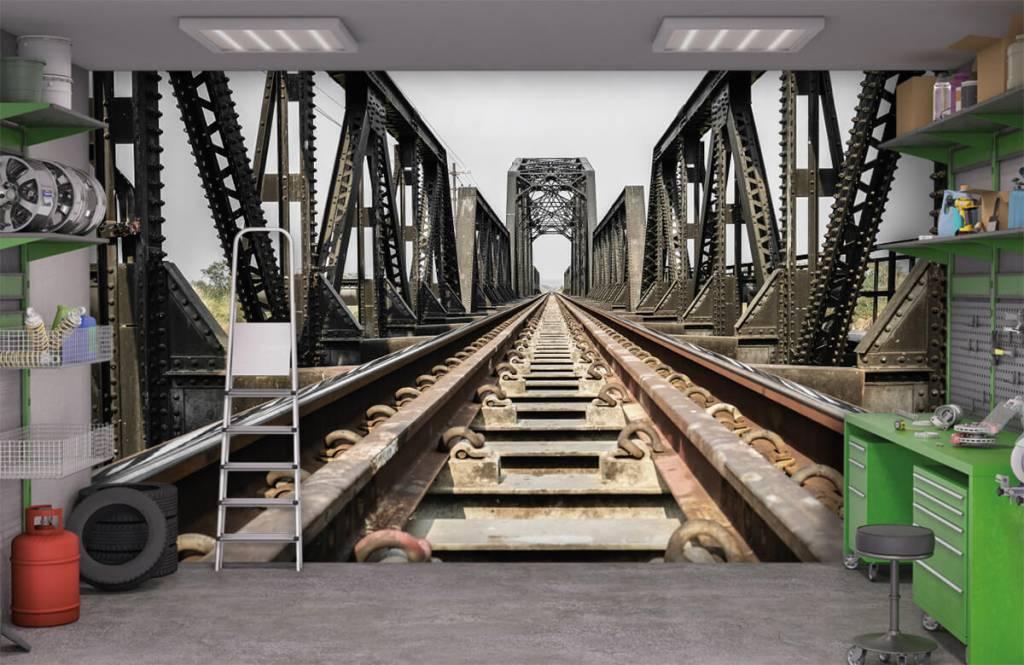 Elemente - Eisenbahnbrücke aus Metall - Garage 1
