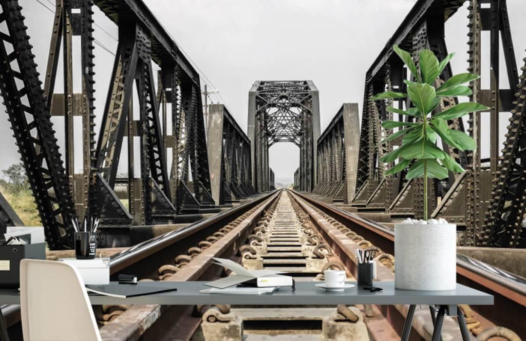 Elemente - Eisenbahnbrücke aus Metall - Garage 2