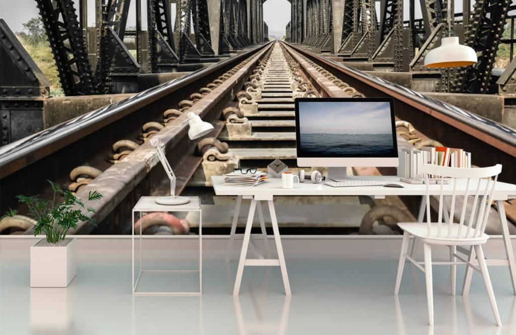 Elemente - Eisenbahnbrücke aus Metall - Garage 3