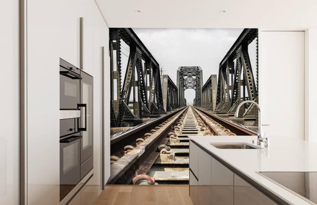Elemente - Eisenbahnbrücke aus Metall - Garage 5