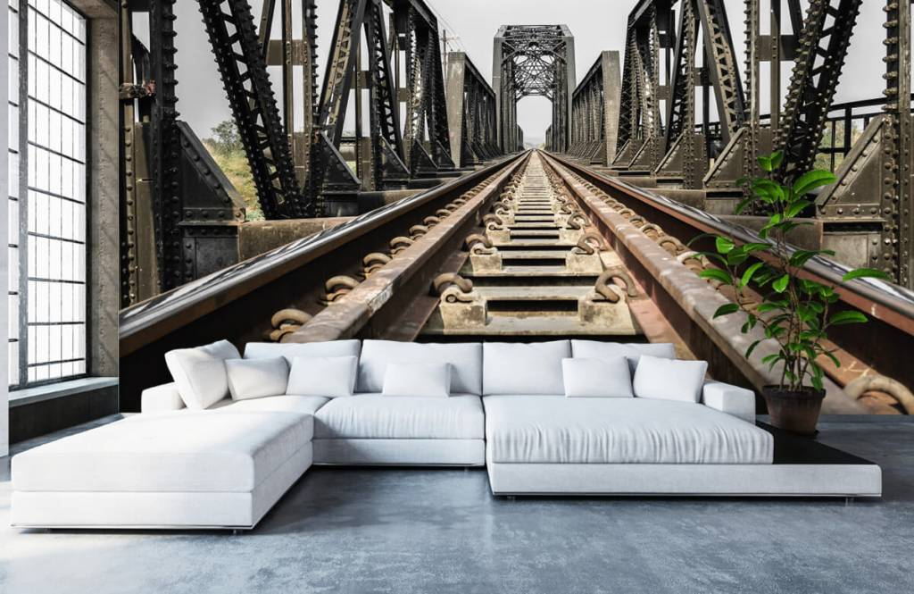 Elemente - Eisenbahnbrücke aus Metall - Garage 6