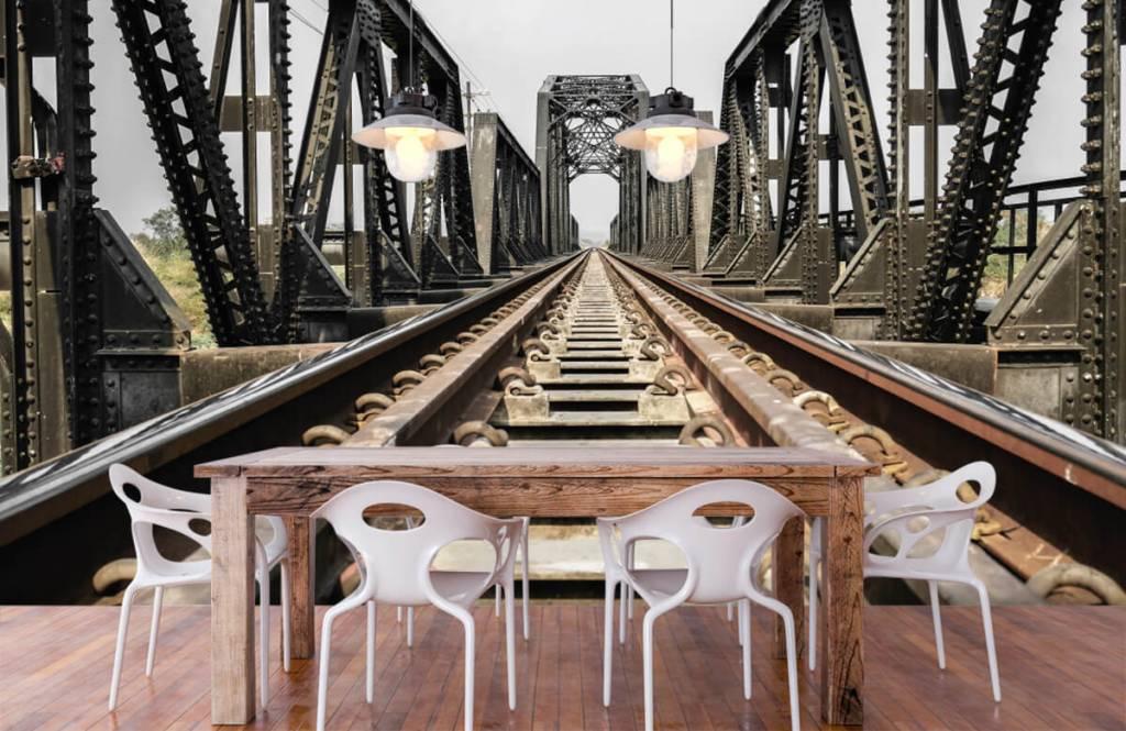 Elemente - Eisenbahnbrücke aus Metall - Garage 7