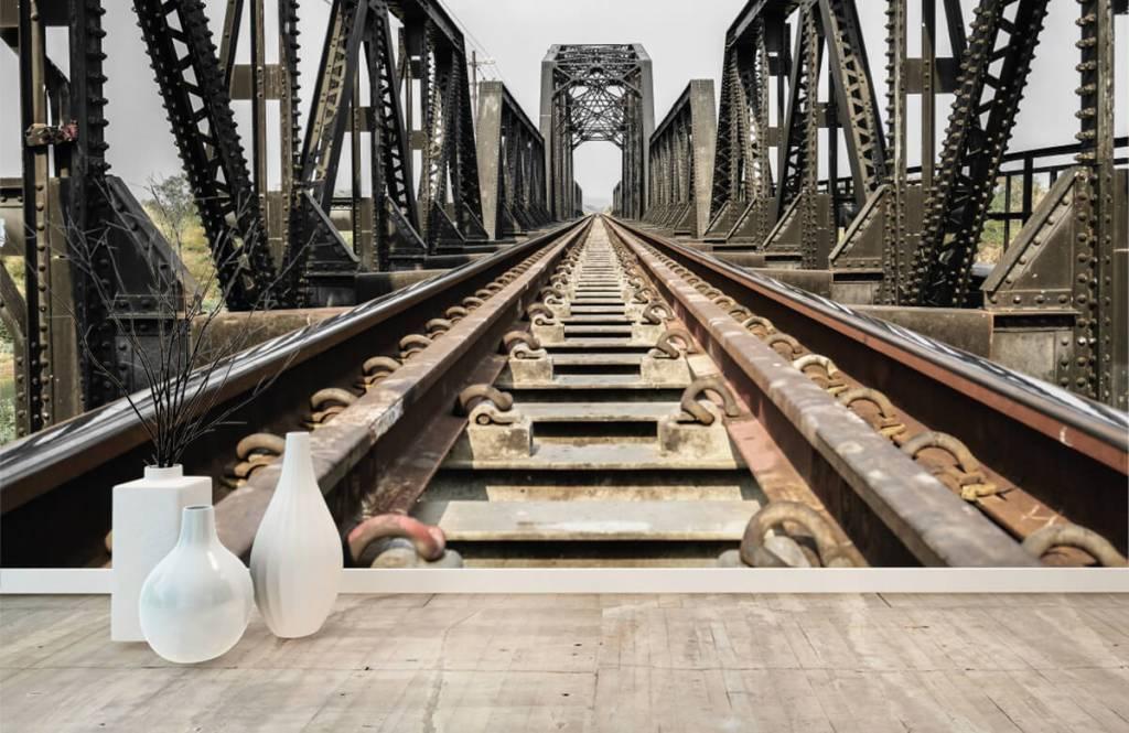Elemente - Eisenbahnbrücke aus Metall - Garage 8