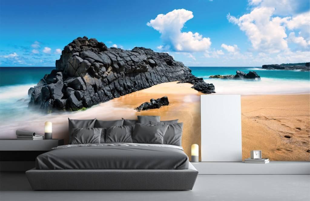 Strand Tapete - Strand auf Hawaii - Wohnzimmer 1