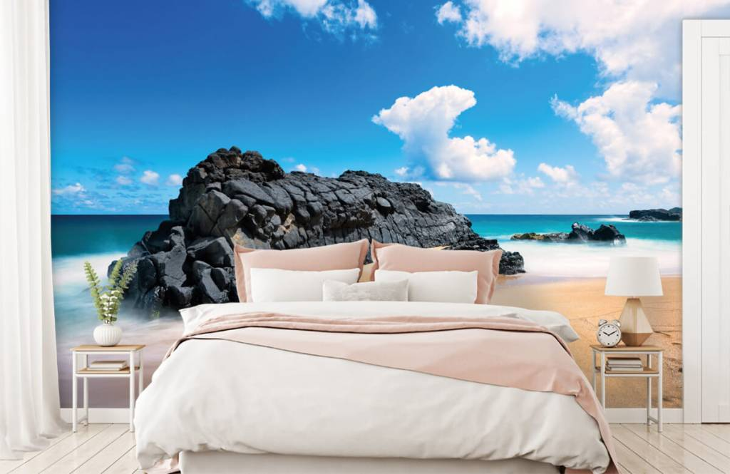 Strand Tapete - Strand auf Hawaii - Wohnzimmer 2