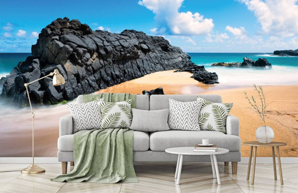 Strand Tapete - Strand auf Hawaii - Wohnzimmer 7