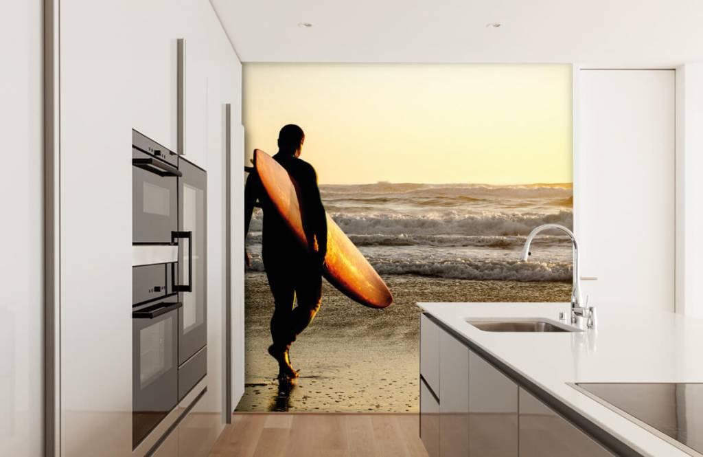 Strand Tapete - Surfer - Jugendzimmer 1