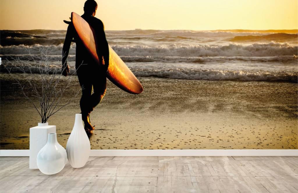 Strand Tapete - Surfer - Jugendzimmer 2