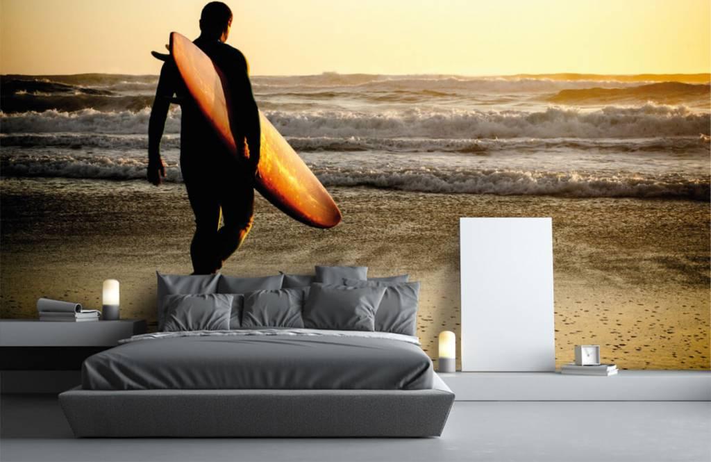 Strand Tapete - Surfer - Jugendzimmer 4