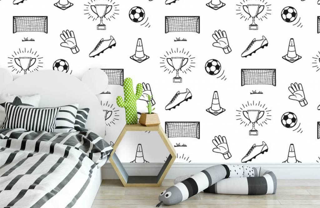 Fußball Tapete - Fußballabbildungen - Kinderzimmer 1