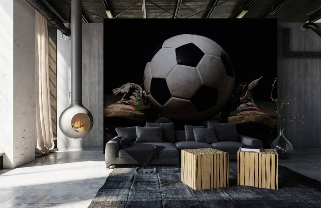 Fußball Tapete - Fußball mit Turnschuhen - Kinderzimmer 5