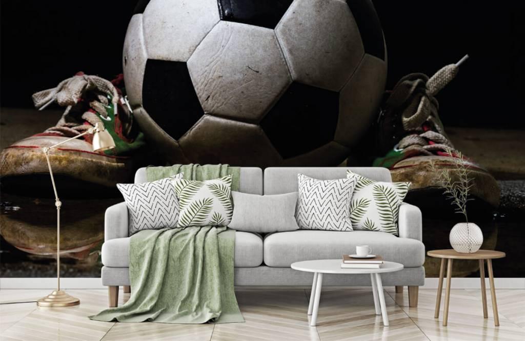 Fußball Tapete - Fußball mit Turnschuhen - Kinderzimmer 6