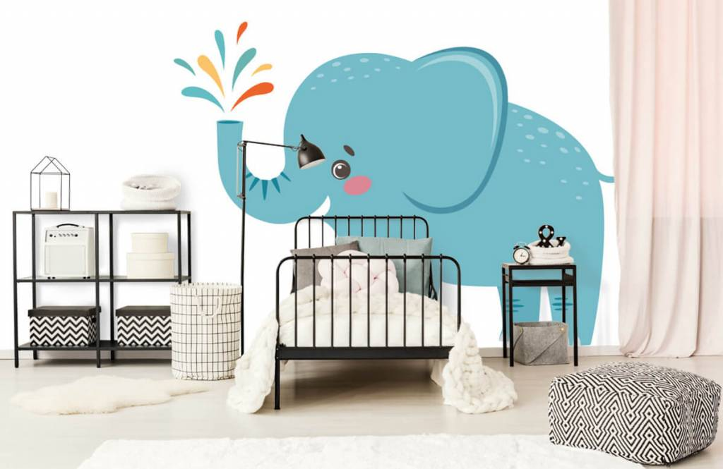 Elefanten - Fröhlicher Elefant - Babyzimmer 1