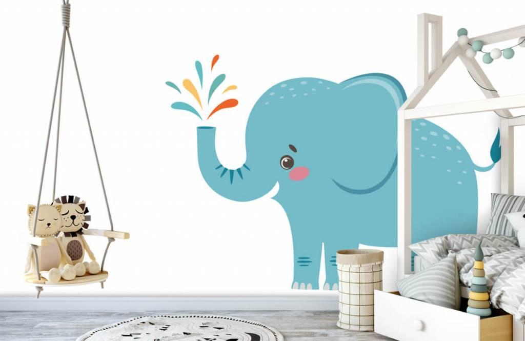 Elefanten - Fröhlicher Elefant - Babyzimmer 3