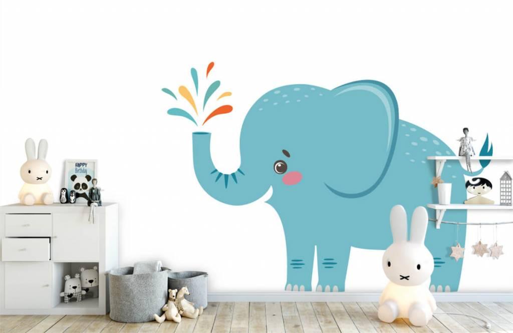 Elefanten - Fröhlicher Elefant - Babyzimmer 4