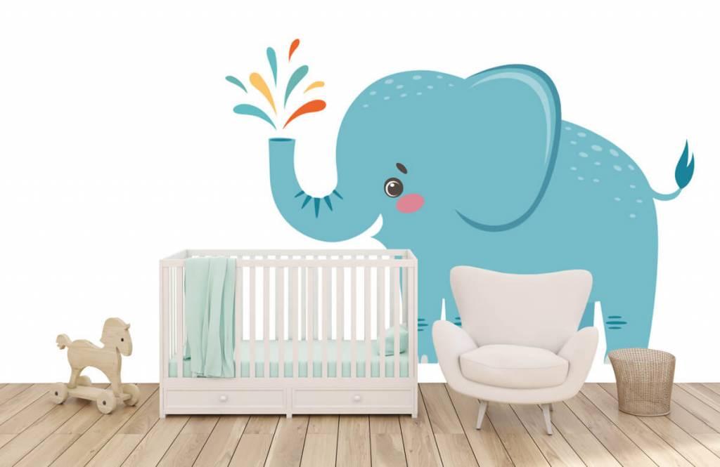 Elefanten - Fröhlicher Elefant - Babyzimmer 5