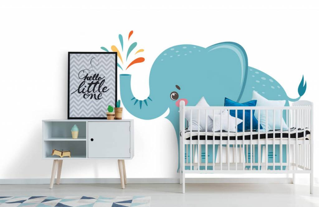 Elefanten - Fröhlicher Elefant - Babyzimmer 6