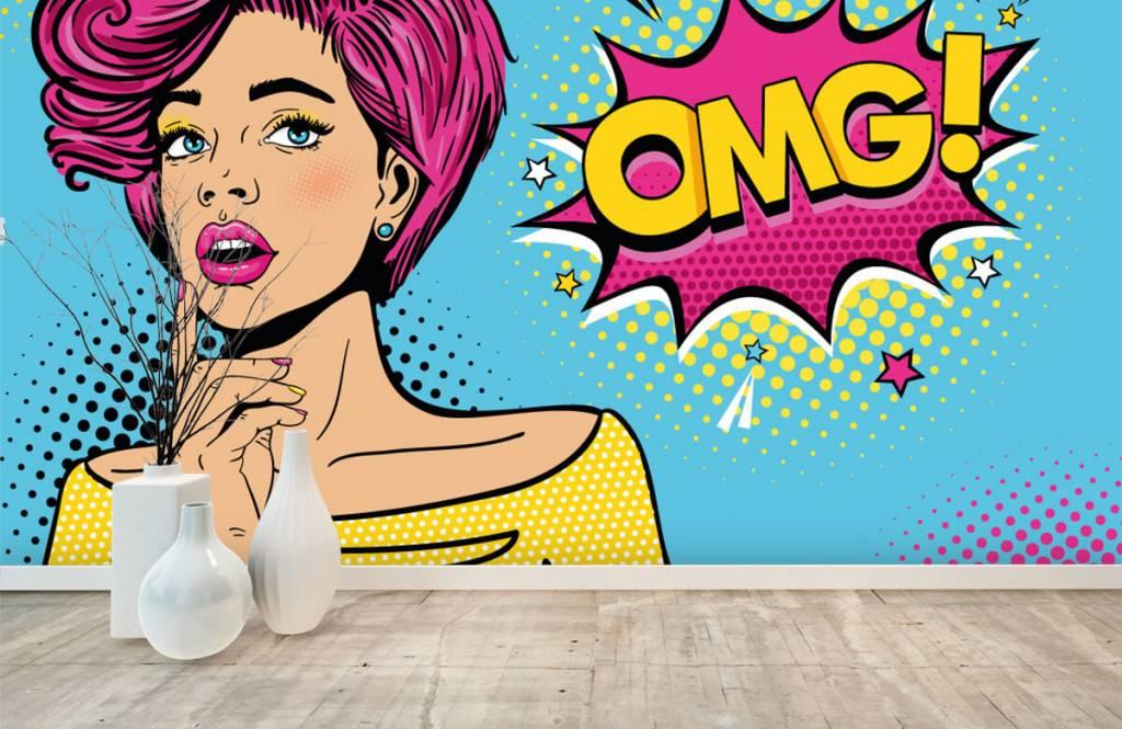 Moderne Tapete - Pop-Art-Frau - Jugendzimmer 1