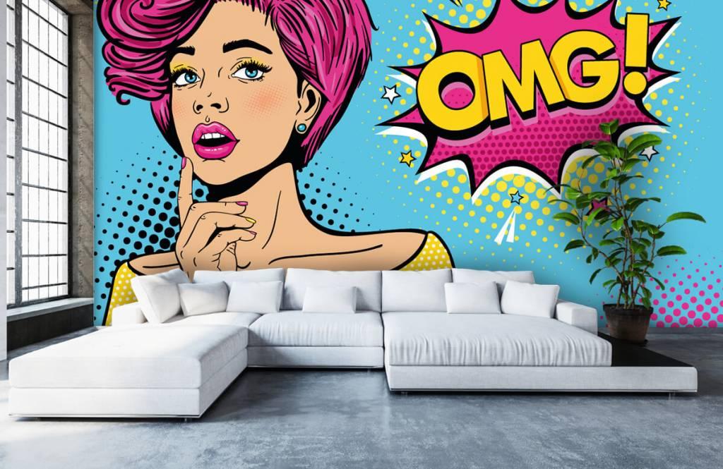 Moderne Tapete - Pop-Art-Frau - Jugendzimmer 6