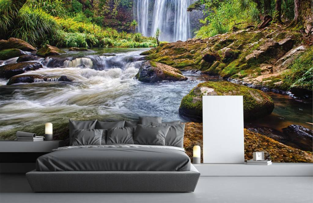 Wasserfälle - Wasserfall mit Steinen - Verwaltung 1