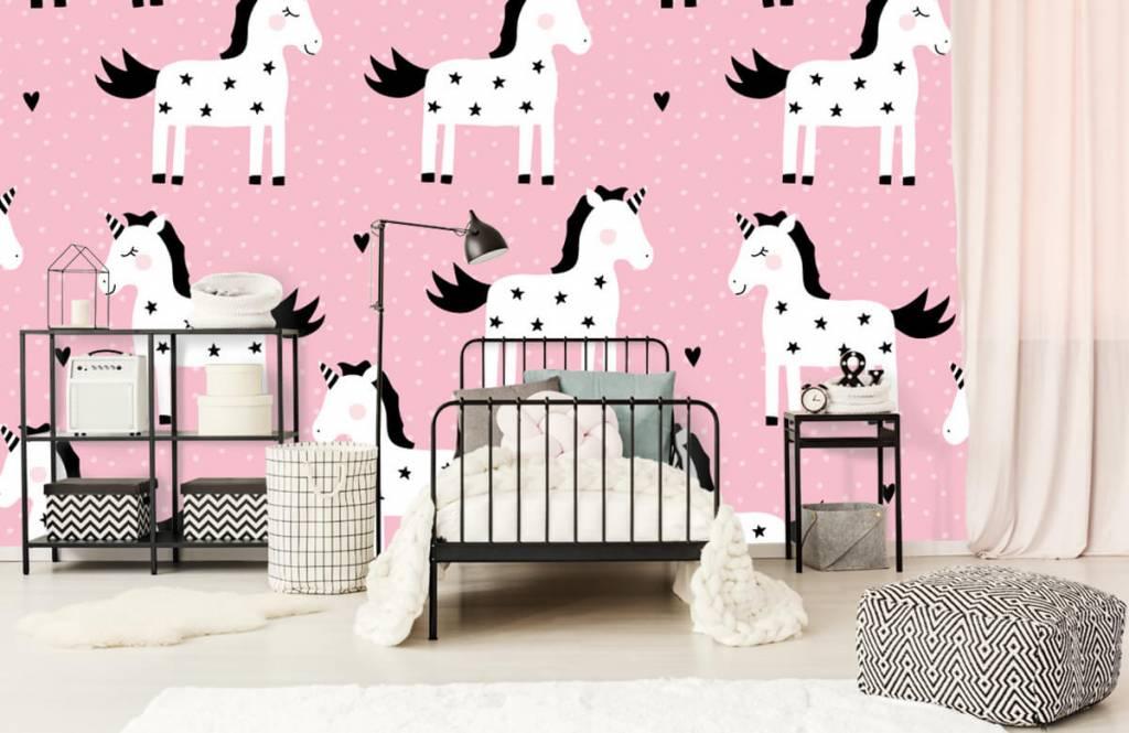 Pferde - Einhorn mit Sternen - Kinderzimmer 1