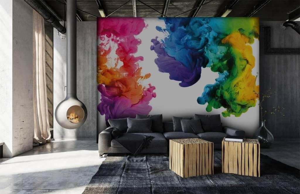 Abstrakte Tapete - Farbiger Rauch - Hobbyzimmer 7