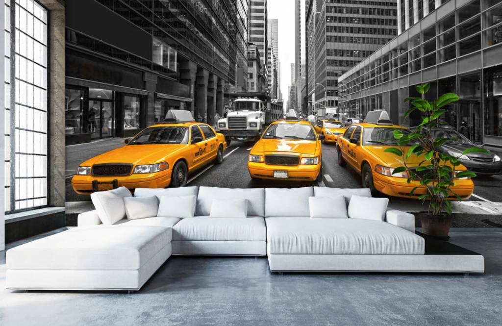 Schwarzweiß Tapete - Taxi New York - Jugendzimmer 1
