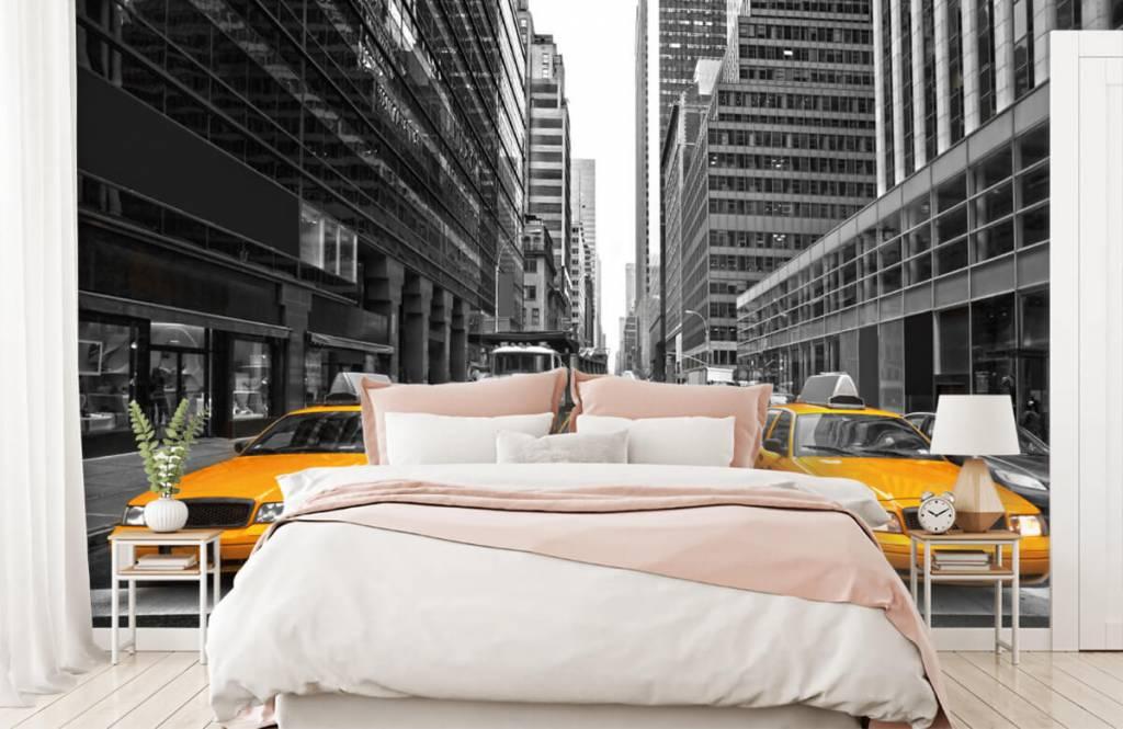 Schwarzweiß Tapete - Taxi New York - Jugendzimmer 2