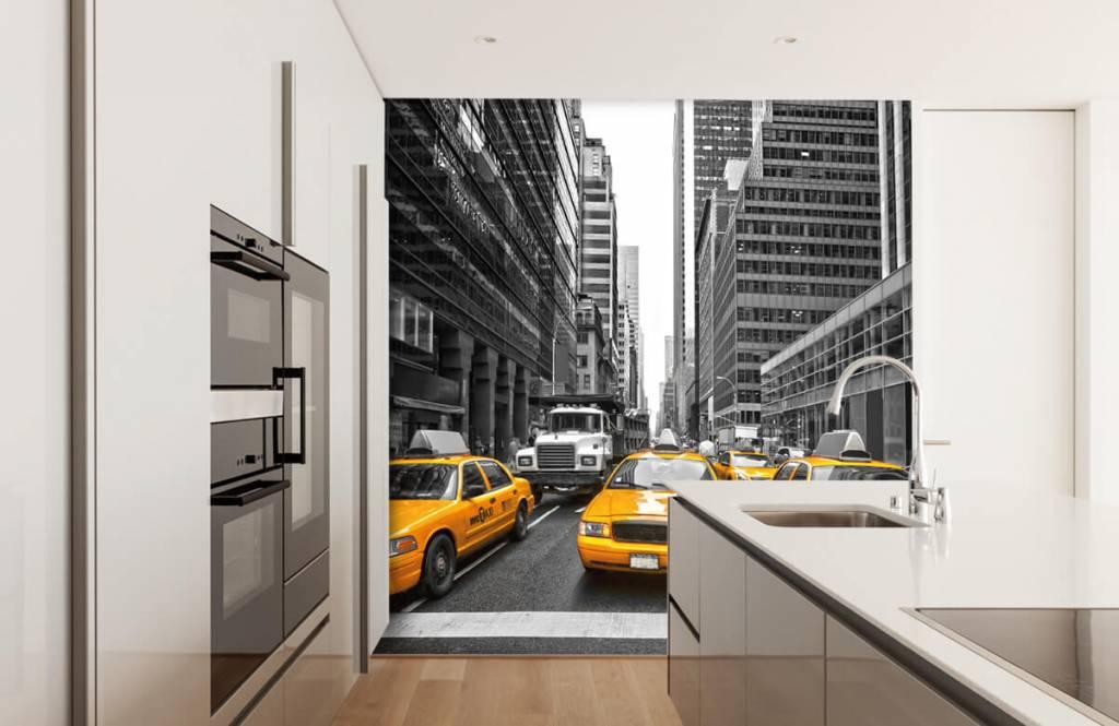 Schwarzweiß Tapete - Taxi New York - Jugendzimmer 4