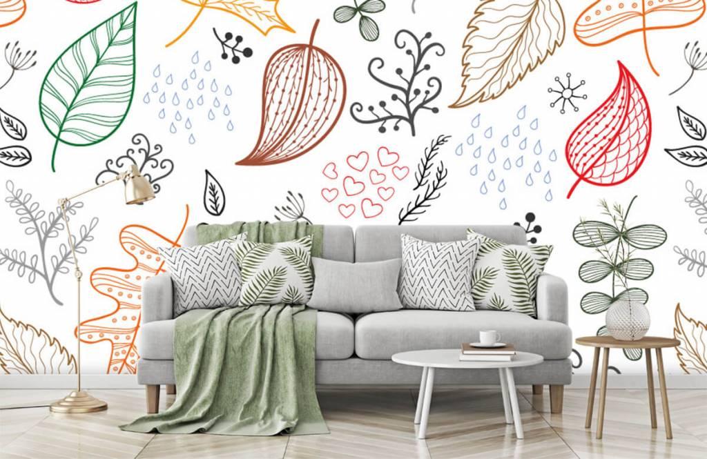 Blätter - Herbstlaub gezeichnet - Hobbyzimmer 1