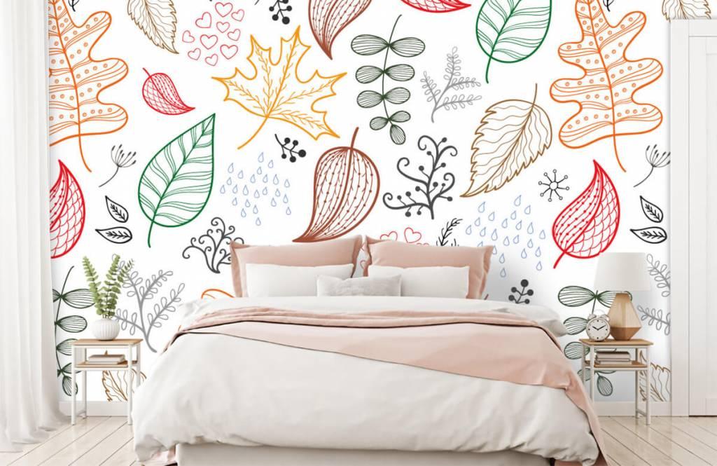 Blätter - Herbstlaub gezeichnet - Hobbyzimmer 2