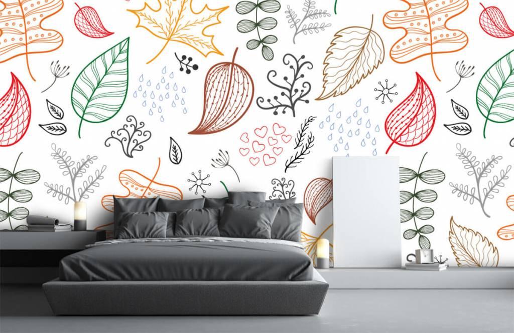 Blätter - Herbstlaub gezeichnet - Hobbyzimmer 3