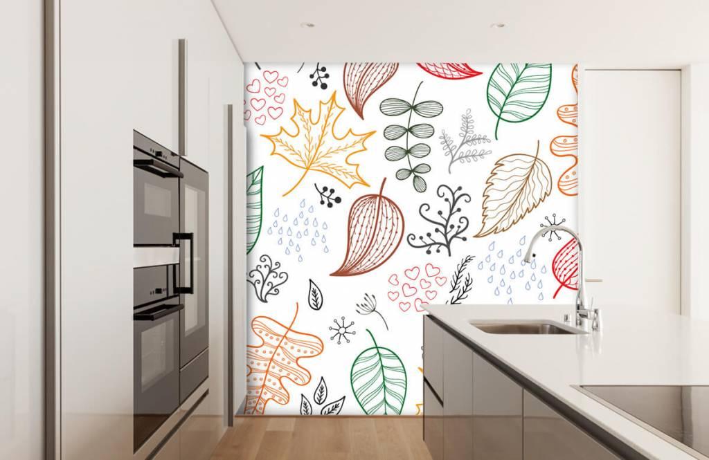 Blätter - Herbstlaub gezeichnet - Hobbyzimmer 4