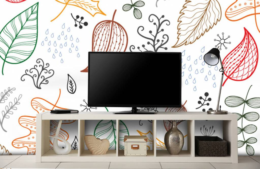 Blätter - Herbstlaub gezeichnet - Hobbyzimmer 5