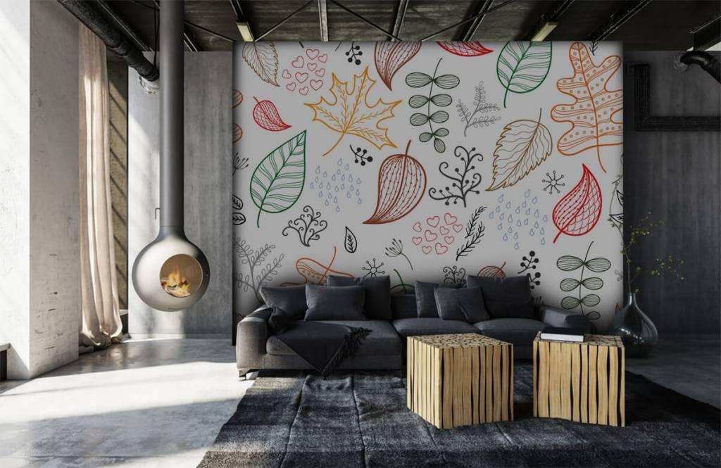 Blätter - Herbstlaub gezeichnet - Hobbyzimmer 7