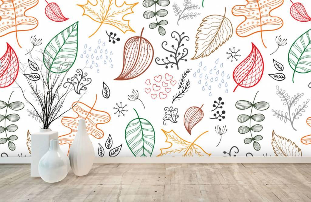 Blätter - Herbstlaub gezeichnet - Hobbyzimmer 8
